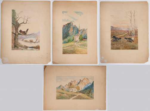 Lot of Four Watercolors