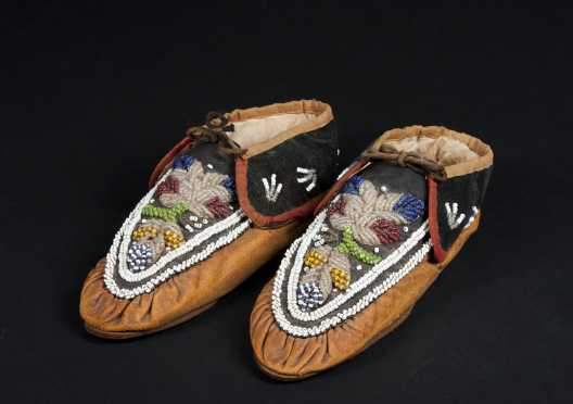 Pair of Native American Moccasins