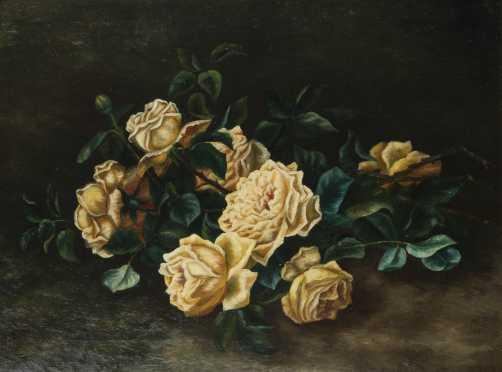School of Benjamin Champney Still life of roses