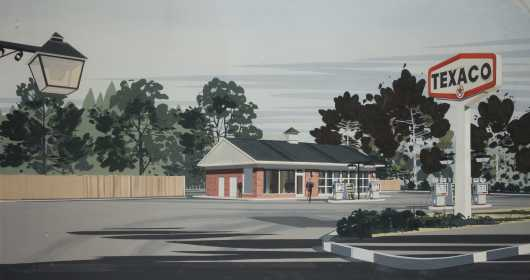 Texaco Gas Station Architectural Rendering