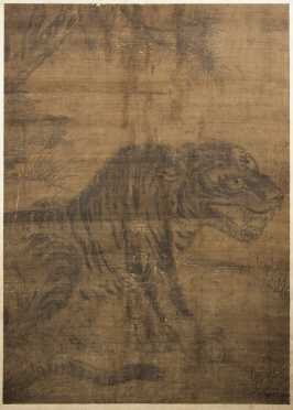 Large Chinese Painting of a Tiger
