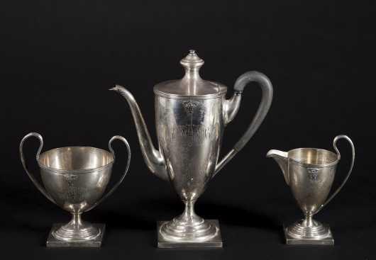 Three Piece Sterling  Silver Coffee Set