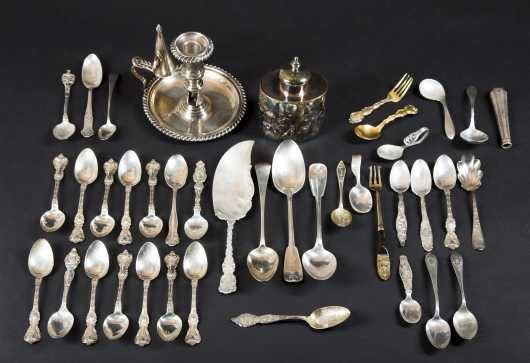 Miscellaneous Sterling and Sheffield Lot