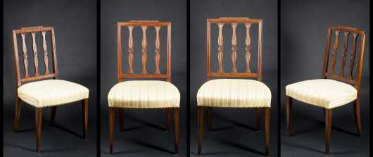 Set of Four Hepplewhite Dining Chair