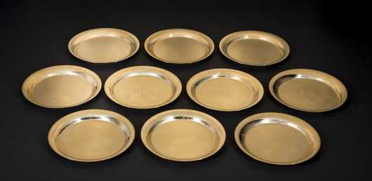 14k gold, Oscar Caplan Plates. Aproximately 44 troy ounces of solid gold.