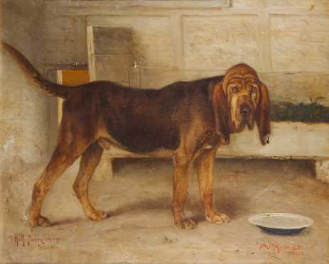 Henry Rankin Poore portrait of a blood hound