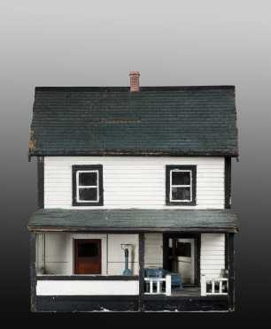 White Colonial Doll House with Porch