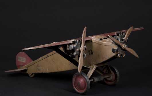 "1900's ""Boycraft"" Pressed Steel Airplane"