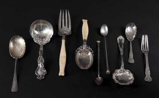 Lot of Ornate Sterling Silver Serving Pieces