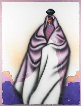 Robert Redbird Sr, Painting of a Native American Woman
