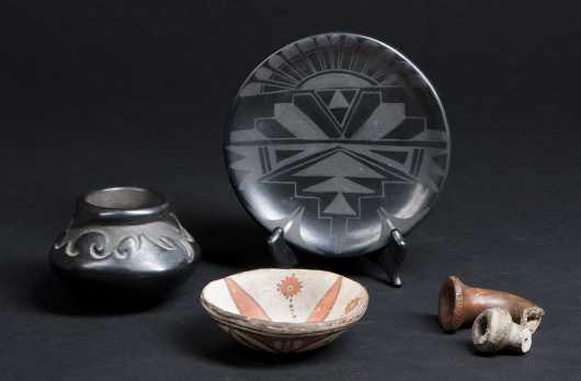 Lot of Five Native American Ceramics