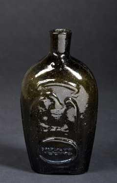 """Keene"" Glass 1 Pint Masonic Flask"