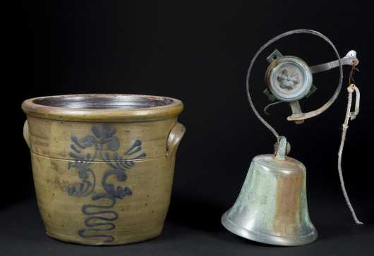 Stoneware and Brass Bell