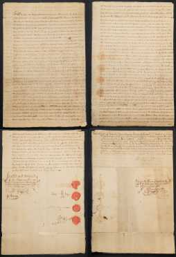 JOHN JAY. 1745-1829.  Important Document, Signed, 1784.  Bedford/Katonah, NY