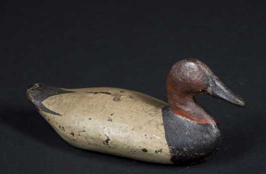 Painted Cast Iron Miniature Decoy
