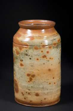 Splotch Decorated Redware Jar