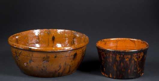Two Redware Bowls