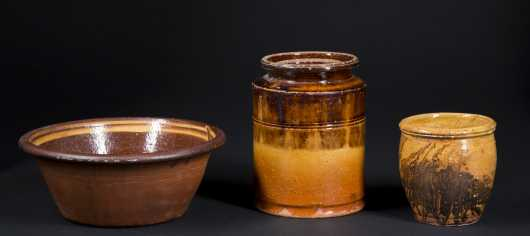 Three Pieces of American Redware