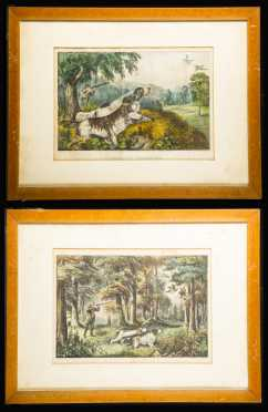 Currier and Ives Hunting Prints