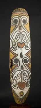 A large Upper Sepik spirit board, Papua New Guinea