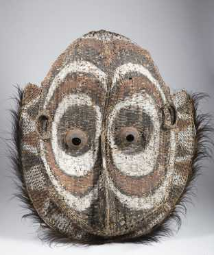 A fine and large middle Sepik gable mask, New Guinea