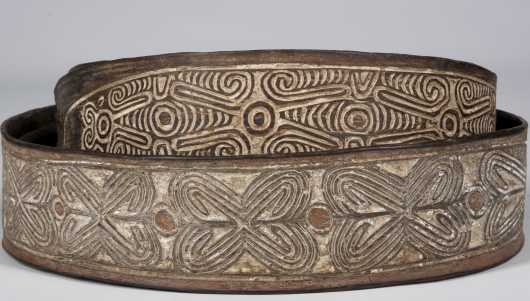 Two fine Papuan gulf bark belts