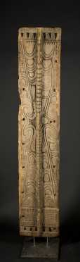 A fine Lower Sepik or Huon Gulf architectural panel, New Guinea