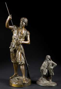 Two Metal Figures After Jean Didier Debut, 1824-1893, France