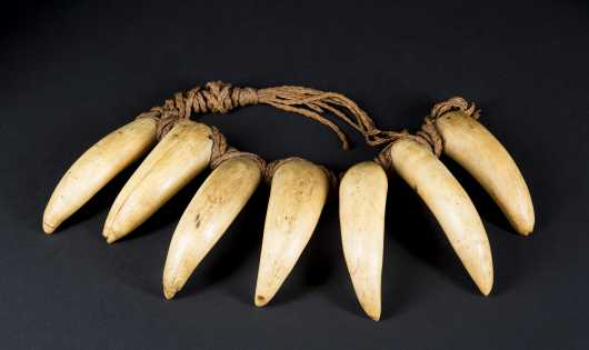 A very rare and fine Fijian Chief's necklace