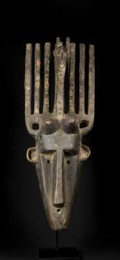 A fine and old Bamana N�Tomo mask