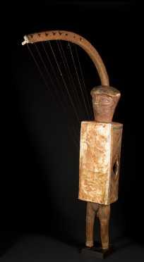 A fine and Ubangi figural harp