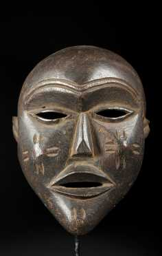 A fine and old Mbunda or Lovale mask