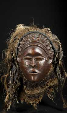 A lovely Mbunda female mask
