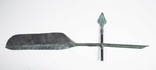 19thC. Feather Weathervane