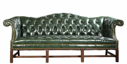 Upholstered Chippendale Style Sofa