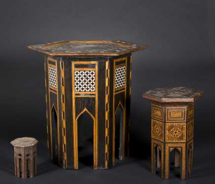Hexagonal Moorish Tables,