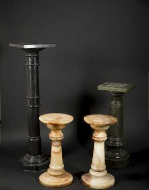 Hard stone Marble and Agate Pedestals