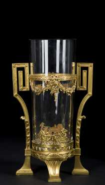 Continental Gilt Bronze Vase