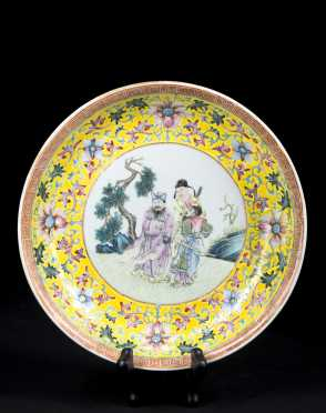 Chinese Porcelain Deep Plate