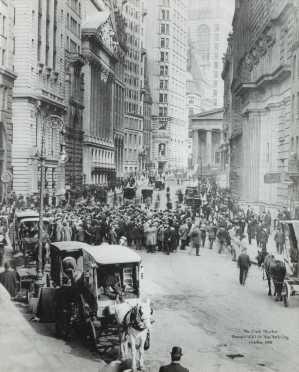 Wall Street, NY, Photograph; 1908