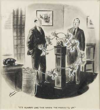 Louis Jommel, (E20thC.), American, satirical watercolor painting