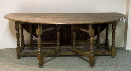 17thC.Style Oak Dining Table