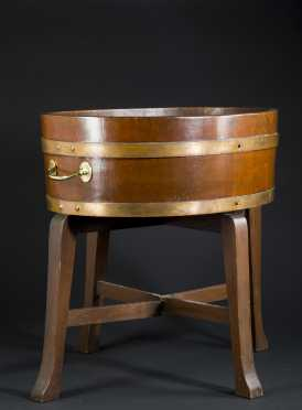 Walnut Cellerette On Stand