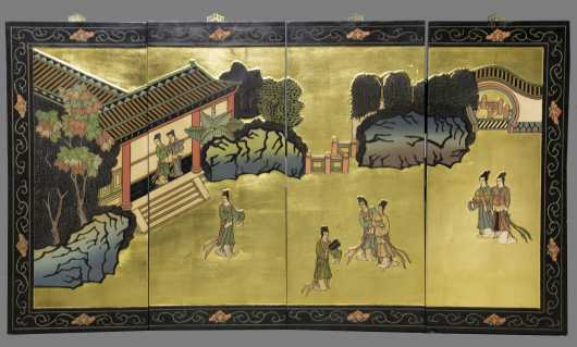 Four Section Chinese Screen