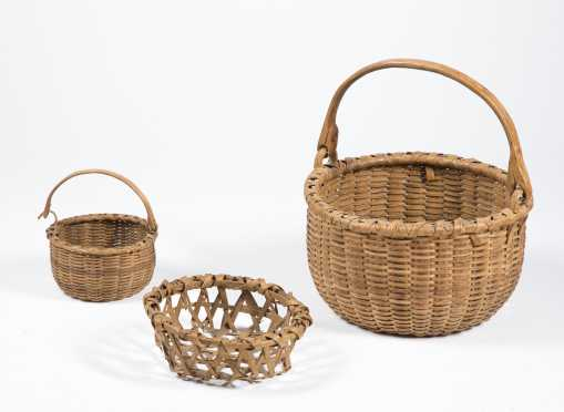 Three Early American Baskets
