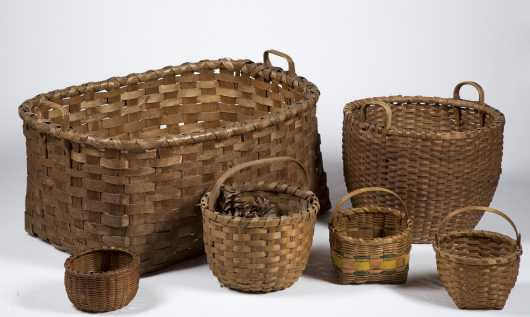 Group of Early American Baskets