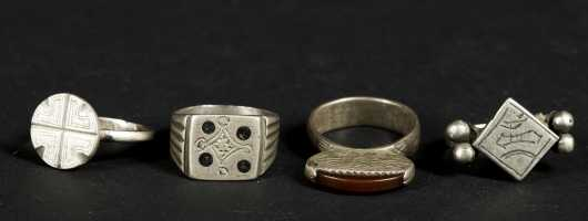 Four Tuareg Rings