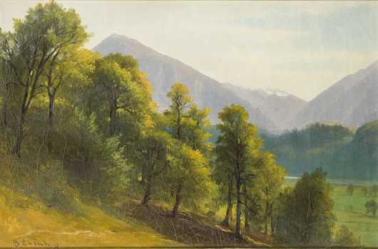Benjamin Champney, (1817-1907), Massachusetts/New Hampshire.  Oil on canvas, mountain landscape