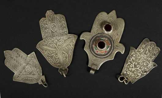 Four Moroccan Hamsas.