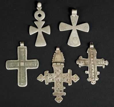 Five Ethiopian wearing crosses